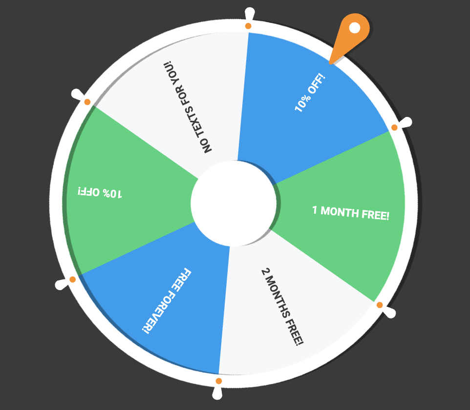 spin to win wheel
